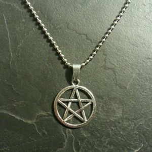 Jewelry - Silver Star Pentagram Pentacle Metal Punk Gift